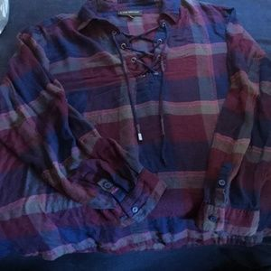 Lane Bryant Tops - Lane Bryant Flannel Shirt, 18/20